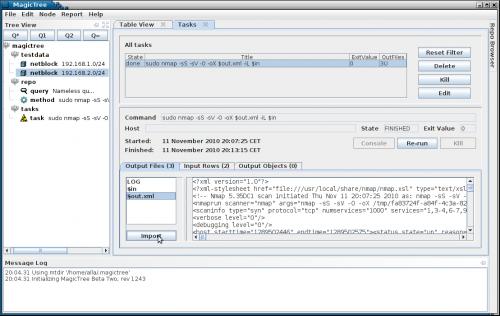 Importing nmap data